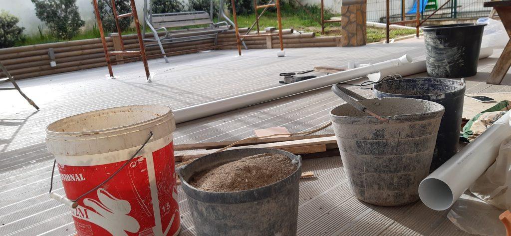 Construction renovation - buckets of work