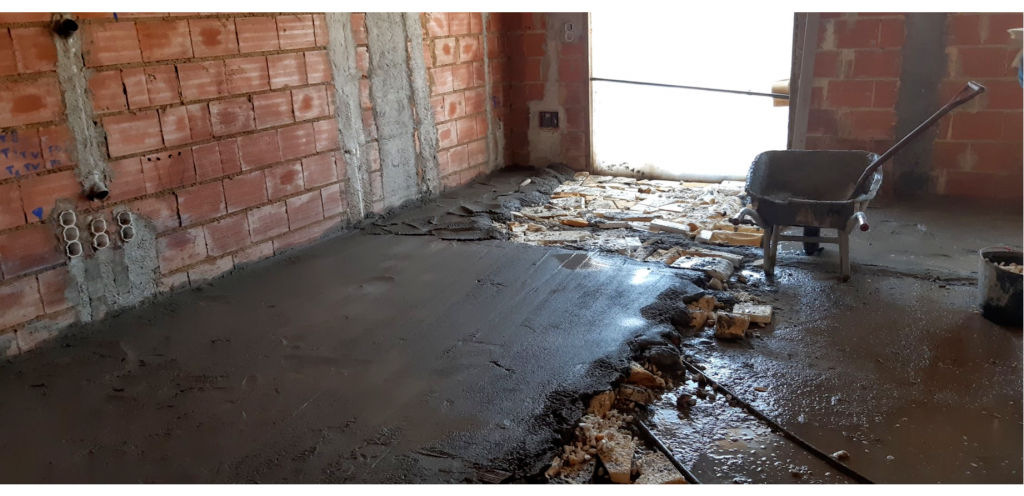 Construction building site - insulation