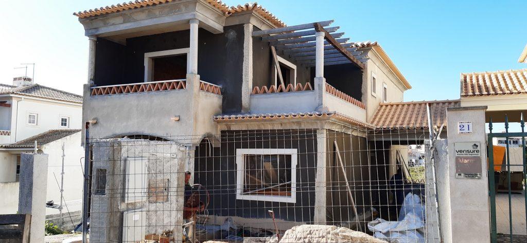 Construction building site - facade