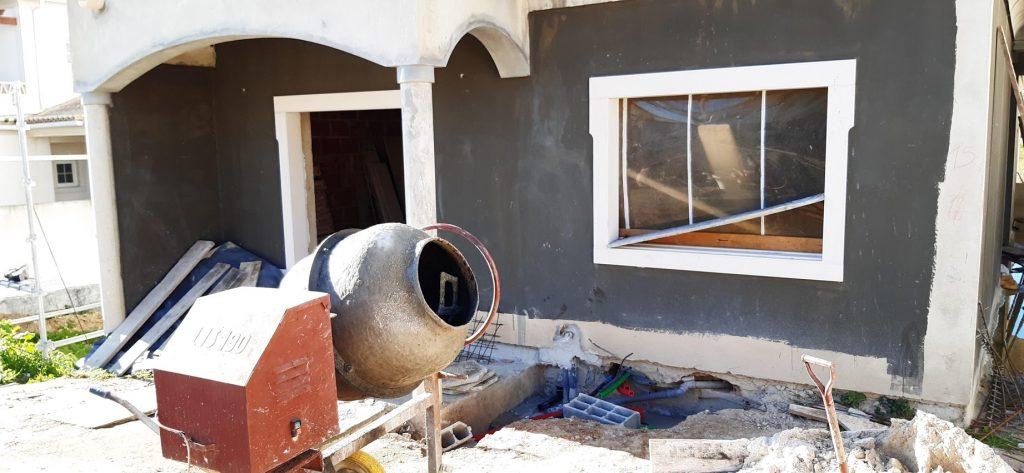 Construction building site - front