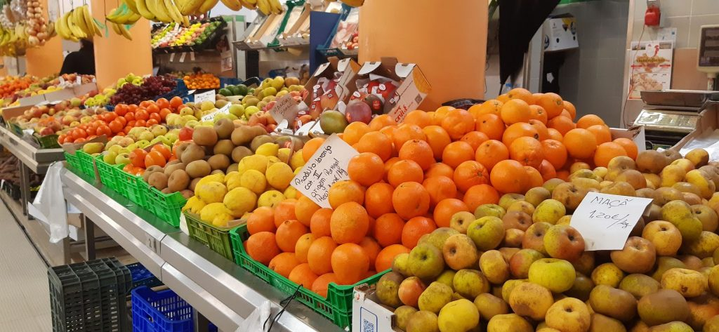 Fruits at the vegetable market in Ericeira