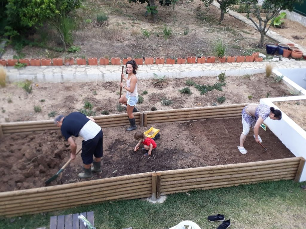 Three generations gardening together - homeschooling ideas