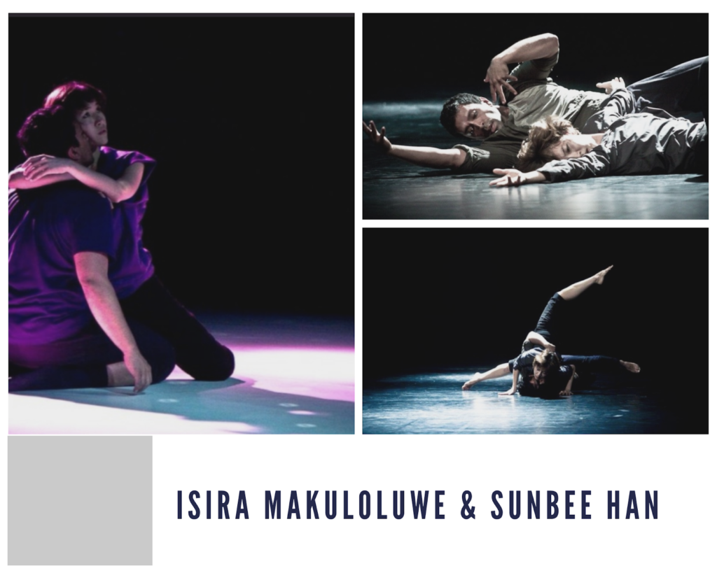 The couple dancing together -  SunBee Han and Isira Makuloluwe