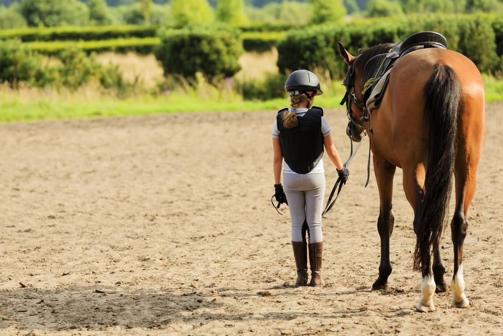 Children's sports: horse riding class, Quinta do Azinheira courtesy